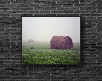 Rural Photo - Hay Bales Photo - Bales of Hay Photo - Farm Photo - Rustic - Fields - Country Wall Decor - Rural Wall Decor - Farmhouse Decor