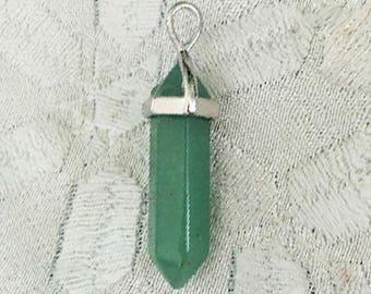 Green Aventurine Pendant Necklace w/ Reiki - Healing Jewelry