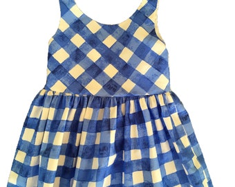 Blue and White Gingham Sundress