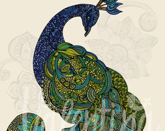 Eva (the peacock) print