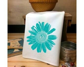 Daisy Flour Sack Towel, Daisy Tea Towel, Daisy Art, Flour Sack Tea Towel, Flower Towel, Garden Lover Gift, Gerber Daisy, Mothers Day Gift