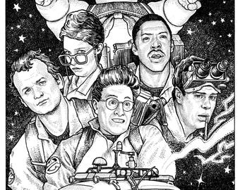 GHOSTBUSTERS (stars background) - Alternative Movie Poster