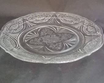 Beautiful Decorative Pressed Glass Serving Plate Homewarming Anniversary Wedding Special Occasion Gift