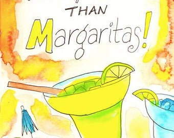 Funny Card, Valentine's Day Card,  I Love You More Than Margaritas!