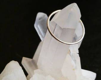 Plain Stacker Ring Band in Sterling Silver (MADE-TO-ORDER)