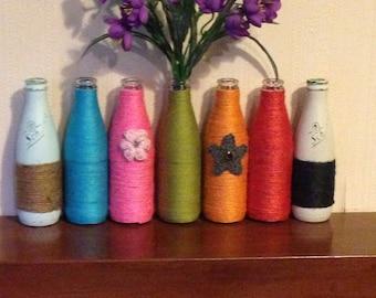 Multi coloured vases