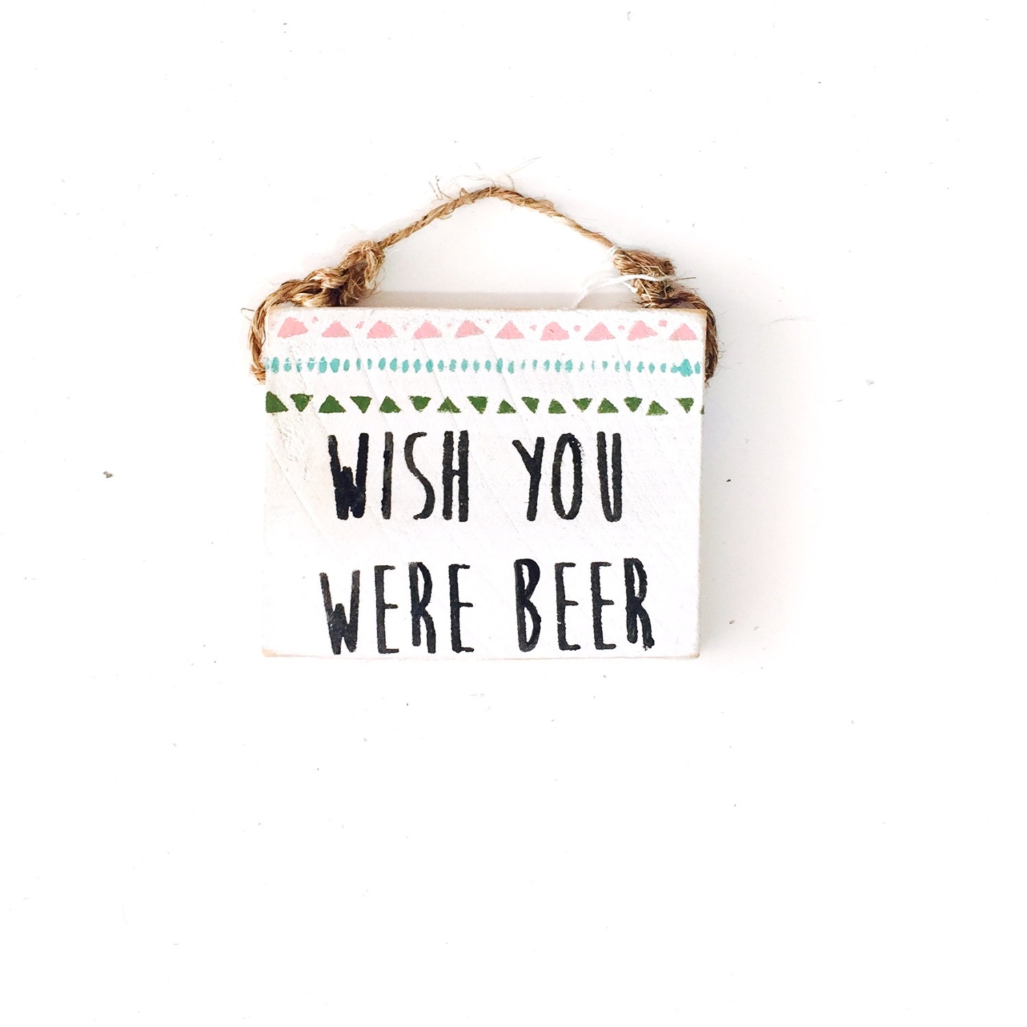 Wish You Were Beer / Drinking Signs / Beer Gift / Beer Sign / Wood ...