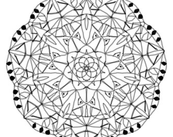 Mandala Flower Coloring Sheet Printable 5 pack