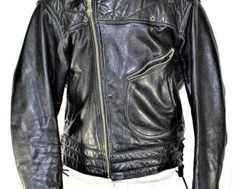 Vintage Harley Davidson Leather Jacket Men's Size 42 Regular
