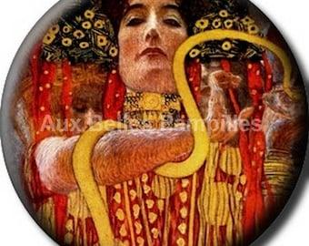"""Round cabochon resin 25 mm - """"Gustav Klimt"""" stick (1017) - art gift."""