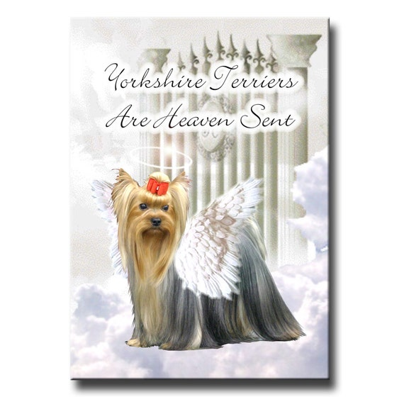 Yorkshire Terrier Heaven Sent Fridge Magnet