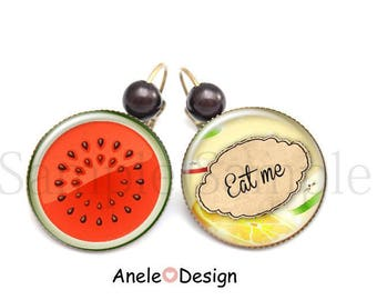 Brighter - Eat me - eat me was banana watermelon fruit green yellow red beads