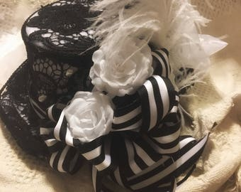 Ribbons & Lace Steampunk Top Hat