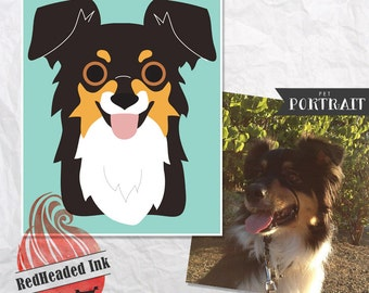 Custom Digital Cartoon Pet (Dog & Puppy) Portrait
