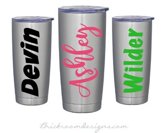 Vinyl Name Decal - Name Decal For Yeti Cup, Name Label, Yeti Rambler Decal, Yeti Name Decal, Tumbler Name Decal, Name Sticker, Name Decal