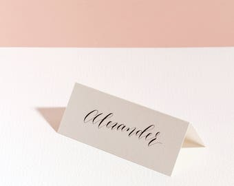 Modern Calligraphy Place Card - First Name