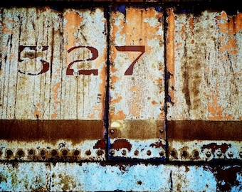 Industrial Artwork, 527, Rustic Train Decor, May 27, Gemini Gifts