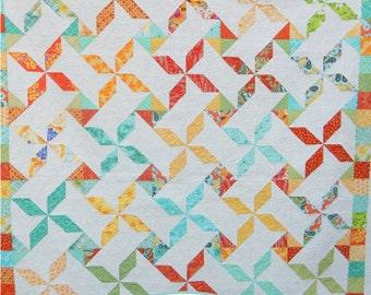 Summer Swirls Quilt Paper Pattern