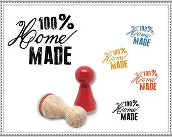 Rubber stamp 100% HOMEMADE Ø 15 mm