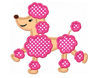Instant Download Poodle Applique Machine Embroidery Design NO:1308