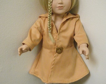 """18 inch Doll Clothes, Hooded Flared Twill Jacket, 18"""" Doll, My Life As doll, Handmade Gift for Girls, American Girl doll"""
