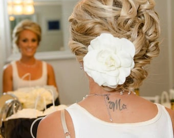 Real touch gardenia hair piece, single or double bloom