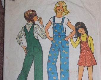 Simplicity #7032 Girls size 10 Overall's and Jumper