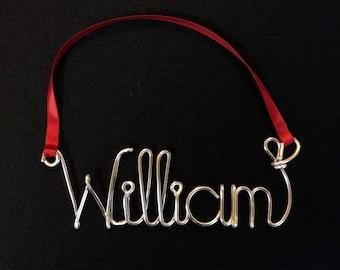 Christmas tree Ornament,William ornament,wire name ornament,name ornament,christmas personalized ornament
