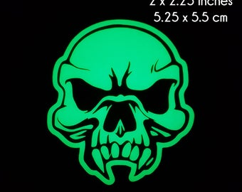 Human Vampire Zombie Skull Glow in the Dark Decal / Sticker - Macbooks, iPhones, Android, Laptops, Windows