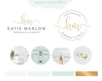 Watercolor logo with branding watermark business card photography logo design premade logo photography watermark business card branding package colourmoves Images