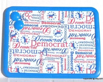 Vote Democrat Magnetic Board, Bulletin Board,  8x11 Magnet Board, Kitchen Decor, Gift For Him