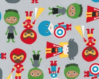 Super Kids - Super Boys Fabric - Green Adventure - sold by the 1/2 yard