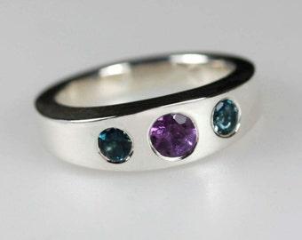 Sentiment  ~ Birthstone ring, Alternative Engagement Ring, Multi-stone Ring