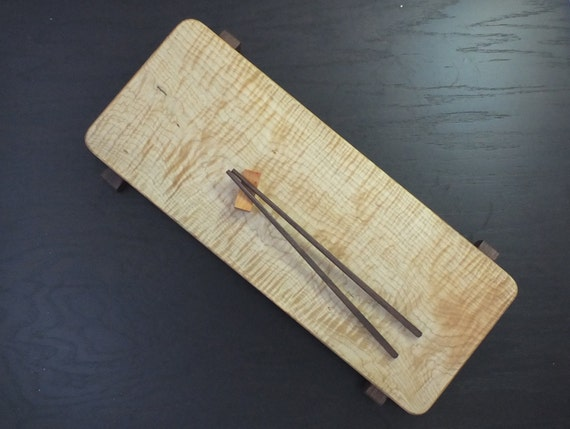 Unique Curly Maple  sushi board, cheese board or charcuterie board. Beautiful hostess, anniversary, wedding  or housewarming gift!