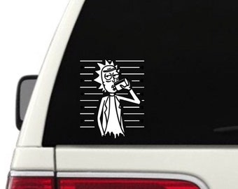 Rick and Morty Vinyl Decal Sticker - Car Decal - Attach to Any Smooth Surface - Cars, Window, Laptops, Walls, ect.