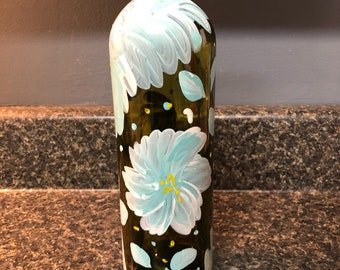 Hand Painted Wine Bottle