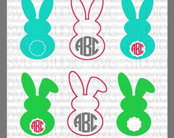 SVG Easter Bunny, Easter Paper Craft Designs,  Cricut Cut Files, Silhoutte Cut files, dxf, png,