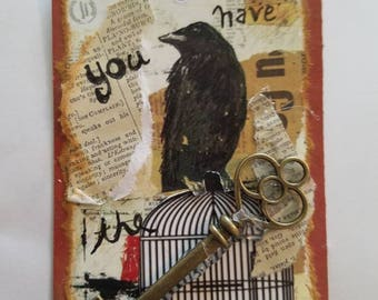 Ephemera Altered Gothic Art Tag