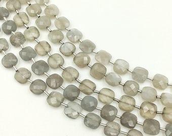 "Grey Moonstone Checker Beads 8-9 mm (ONE 8"" Strand)"