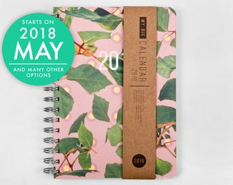 2018 2019 weekly planner - Mother's Day Gift - high quality paper! Colorful leaves A5 Diary Weekly Journal Calendario Open-dated available