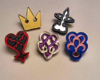 Kingdom Hearts Symbol Pins