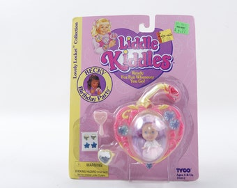 Becky Birthday Party, Liddle Kiddles, Lovely Locket, Toy, Plastic, Tyco, Children, Collection, Vintage, ~ 170712