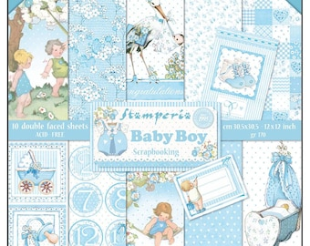 Baby Boy by Stamperia-12x12 Patterned Papers