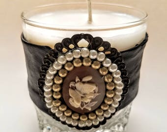 Currant Rose Whiskey Glass Candle [12oz]