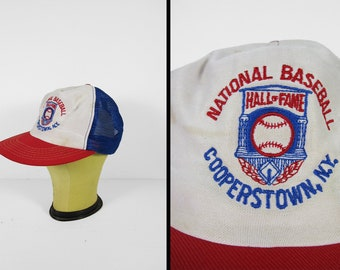 Vintage Cooperstown Baseball Hat Hall of Fame NY Snapback Trucker Cap