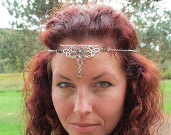 Unakite Celtic Circlet Woodland Chain Headpiece Crown Elven Circlet SOLDERED head chain head jewelry, body jewelry The Mystical Oasis Glow