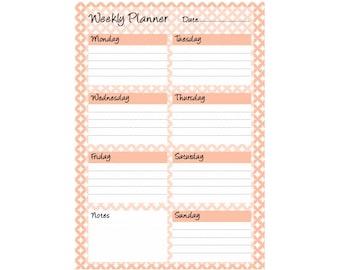 Weekly Planner Printable - Instant Digital Download -