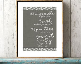 Inspirational Quote, Whispered The Heart, office wall art, dorm decor, inspirational art, motivational, encouragement gift, graduation gift