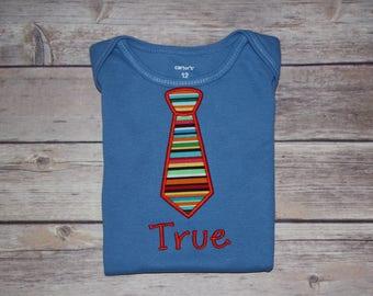 Monogrammed Tie Bodysuit, Baby Boy Bodysuit, Coming Home Gift, Baby Shower Gift, Baby Boy Monogrammed Gift, Monogrammed Neck Tie Tee