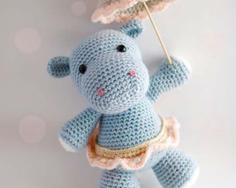 Amigurumi Crochet Pattern - Hanna the Hippo